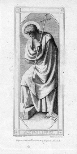 Franz.Keller (1821-1896), SES. Philippus, Radierung nach Overbeck, D2347-03