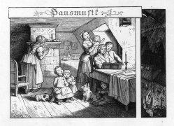 Hausmusik, Holzstich, D2243-6