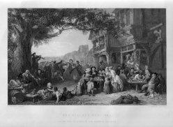 J. Carter, The Village Festival, Stahlstich nach F. Goodall, D1333