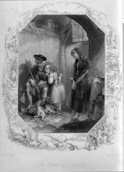 J. Hollis, Der sterbende Luath, Stahlstich nach J. Browne, D2088-4