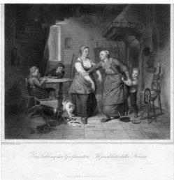 J. W. Baumann, Der Liebling der Großmutter, Stahlstich nach Wieschebrink, D2333-9