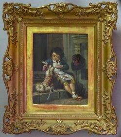 Mahlzeit mit Hund, Gemälde, D2071