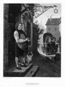 Veit Froer (1828-1900), Brodneid, Stahlstich nach Hiddemann, D2261