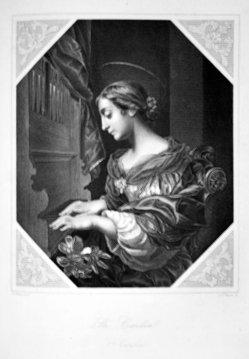 Albert Henry Payne (1812-1902), Die heilige Cäcilia, Stahlstich nach C. Dolce, D1611-221
