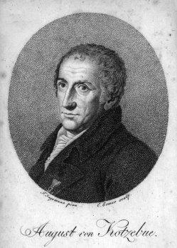 C. Ermer, August von Kotzebue, Kupferstich nach Jagemann, A0208