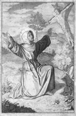 Carl Ferdinand Mayer (1798-1868), Christie Himmelfahrt, Stahlstich nach K. Eberhard und L. Völlinger, D2347-16