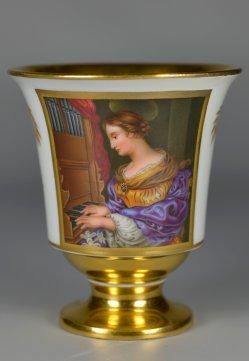 Carlo Dolci (1616-1686), Die heilige Cäcilia, Porzellanmalerei, Tasse, A0248