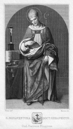 Franz Paul Massau (1818-1900), S. Bonaventura, Stahlstich nach Flatz, D2347-21