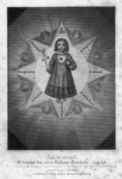Georg Joseph Manz (1808-1894), Emmanuel, Stahlstich als Andachtsbild nach Leudner, D2347-33