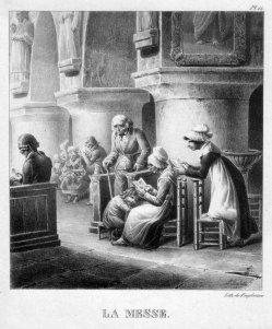 Gottfried Engelmann (1788-1839), La Messe, Lithographie, D2386-7