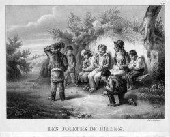 Gottfried Engelmann (1788-1839), Les Joueurs de Billes, Lithographie, D2386-5