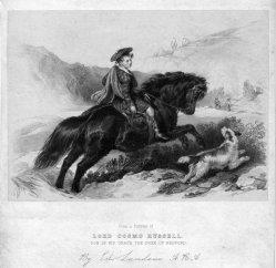 Gottfried Engelmann (1788-1839), Lord Cosmo Russell, Lithographie nach Landseer, D2386-6