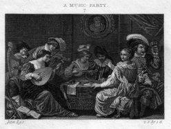 Ja. Neagle, A Music Party, Kupferstich nach Lys und Craig, D2386-1-7