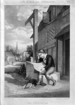 Maxim Gauci (1774-1854), Der Weg zur Intelligenz (The March of Intellect),  Lithographie D2386-3