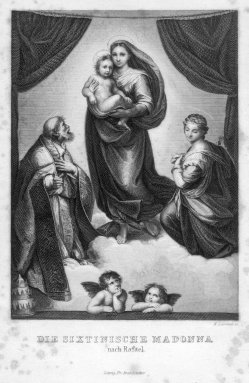 Moritz Lämmel (1822), Die Sixtinische Madonna, nach Raffael, Stahlstich, D2347-26