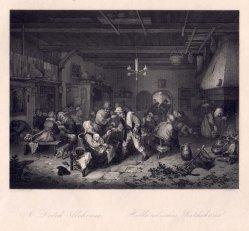A. Carse, Holländisches Wirtshaus, Stahlstich nach A.van Ostade, D2390-11