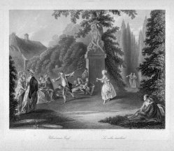 Albert Henry Payne (1812-1902), Blindekuhspiel, Stahlstich nach D. Chodowiecki, D2392-2