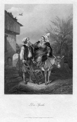 Albert Henry Payne (1812-1902), Der Spröde, Stahlstich nach Grenier, D2407-9