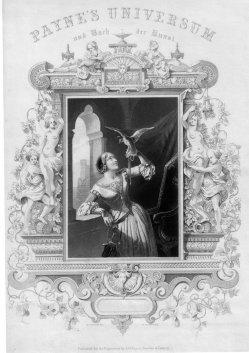 Albert Henry Payne (1812-1902), Die Falknerin, Stahlstich nach Perlberg, D2393-5