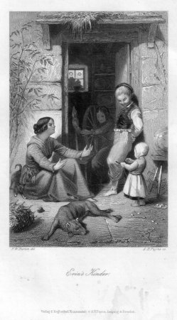 Albert Henry Payne (1812-1902), Erin´s Kinder, Stahlstich nach F.W.Burton, D2393-13