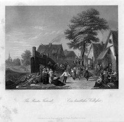 Albert Henry Payne (1812-1902), Niederländische Dorfschenke, Stahlstich nach D. Teniers II, D1493