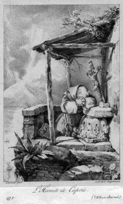 Gottfried Engelmann (1788-1839), L Hermite de Caprée, Lithographie nach Thomas, D2386-8