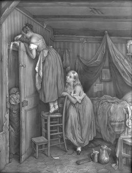 Lithophanie Meißen 167 – Die bestrafte Neugierde nach Villeneuve