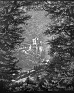 (PPM) 1380 – Waldlichtung mit Burg, klein