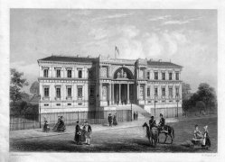 William French (1815 - 1898), Der Justizpalast zu Nantes, Stahlstich nach L. Asselineau, D2407-4
