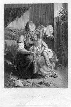 William French (1815-1898), Die engen Strümpfe, Stahlstich nach Röder, D2393-14