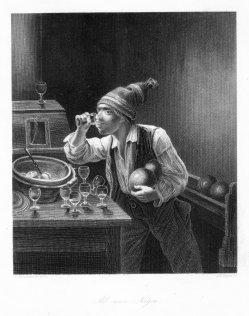 Albert Henry Payne (1812-1902), Alle neun Neigen, Stahlstich nach J.P. Hasenclever, D2427-2