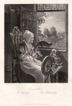 Albert Henry Payne (1812-1902), Der Schmetterling, Stahlstich nach de Bruycker, D2422-7
