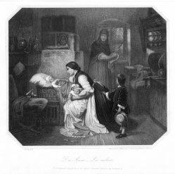 Eduard Schuler (1806-1882), Die Amme, Stahlstich nach C. Piloty, D2413-1.jpg