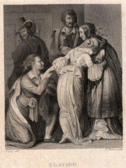 Friedrich Weber (1813-1882), Clavigo, Stahlstich nach Bendel, D2421-8