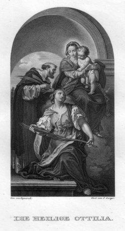 Sebastian Langer (1772), Die heilige Ottilia, Kupferstich nach G. Cignaroli, D2400-1