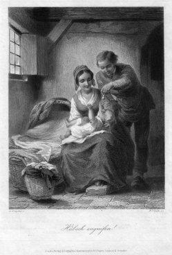 William French (1815-1898), Hübsch zugreifen!, Stahlstich nach de Bruycker, D1510