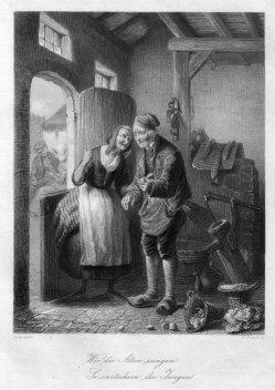 William French (1815-1898), Wie die Alten Sungen…., Stahlstich nach de Bruycker, D1270
