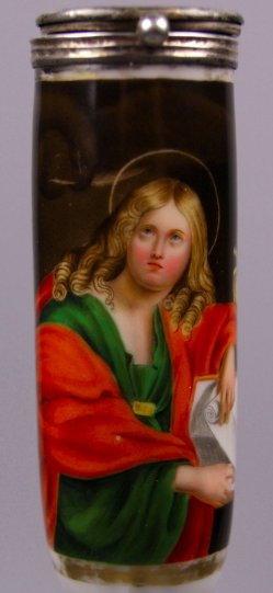 Domenichino (1581-1641), St. Johannes, Porzellanmalerei, Pfeifenkopf, D1195