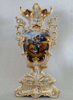 Francois Eugéne Giraud (1806 – 1881), Retour: la Permission de Dix Heures, Porzellanmalerei, Prunkvase, D1729D1729-1