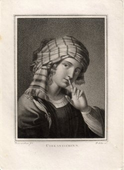 Friedrich John (1769-1843), Punktierstich, Cirkassierinn, nach Domenichino, D1771