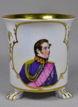 Joseph Stieler (1781-1858), Friedrich Wilhelm IV - König von Preußen, Porzellanmalerei, Tasse, D1865