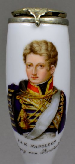Napoleon II. Herzog von Reichstadt (1811-1832), Porzellanmalerei, Pfeifenkopf, D1228