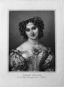 Franz Xaver Stöber (1795-1858), Sophie Müller, nach Ender, Punktierstich, D1649