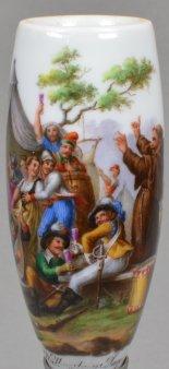 Johann Heinrich Ramberg (1763-1840), Wallensteins Lager, Porzellanmalerei, Pfeifenkopf, D1799