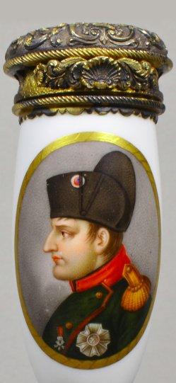 Heinrich Anton Dähling (1773-1850), Napoleon I., Porzellanmalerei, Pfeifenkopf, D1876