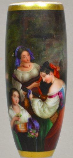 Franz Xaver Winterhalter (1805 – 1873), Italienische Genreszene, Porzellanmalerei, Pfeife, D1889