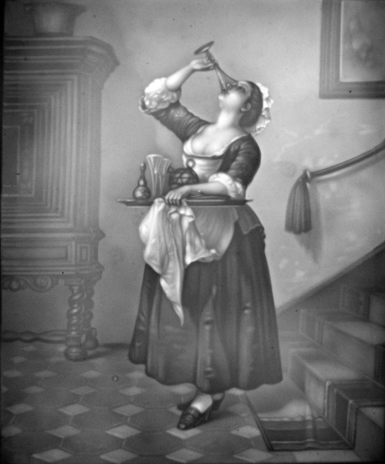 Hpm 413 A Das Trinkende Hausmädchen