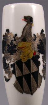 Wappen derer Wambolt von Umstadt, Porzellanmalerei, Pfeifenkopf, D1096