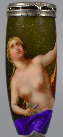 Francesco Trevisani (1656-1746), Lucretia, Porzellanmalerei, Pfeifenkopf, D1903