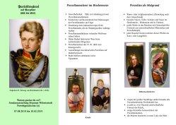 Faltblatt zur Ausstellung Portraits vorne